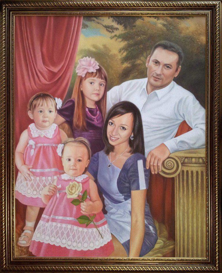 Семейный портрет маслом в Косторме — правильная традиция…