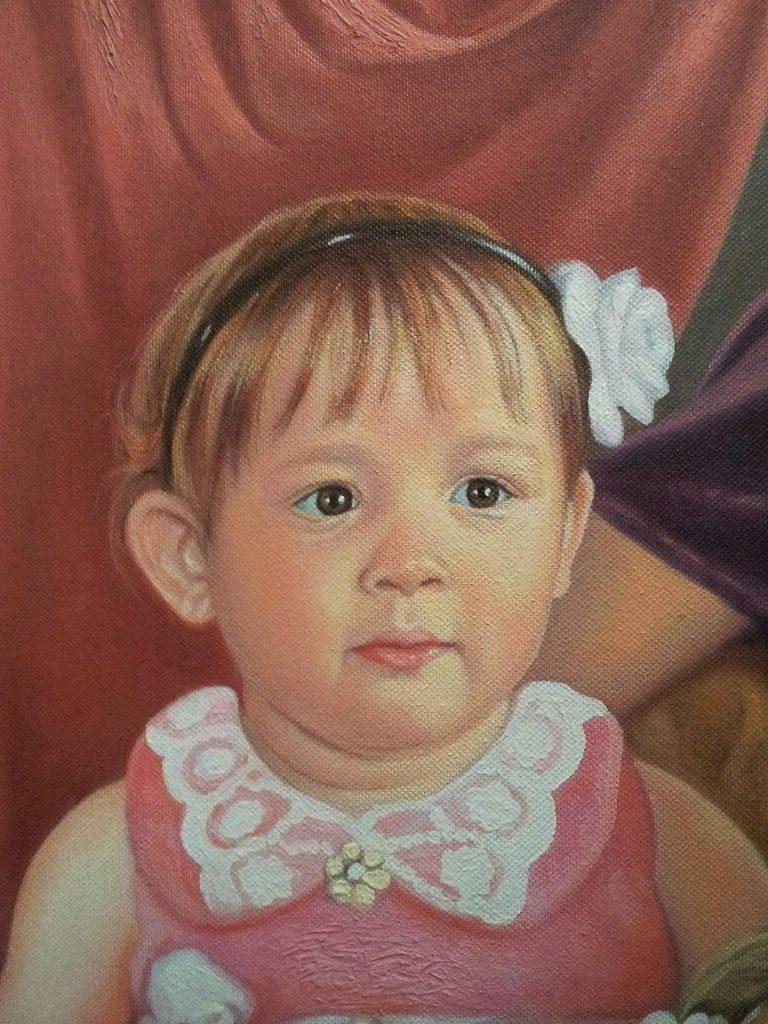 Портрет маслом семейный Косторма