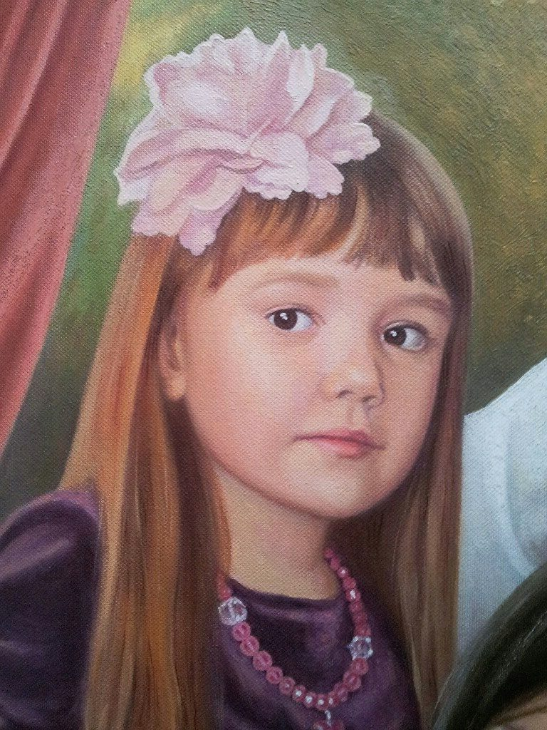 Семейный портрет на холсте Косторма