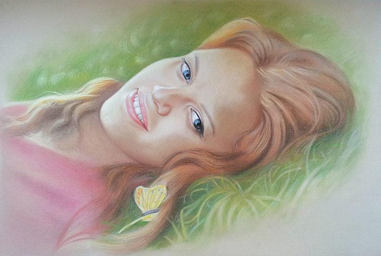 Настоящий портрет пастелью для любимой девушки в Косторме, просто и со вкусом!