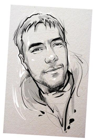 Портрет карандашом любимому мужу в Косторме…