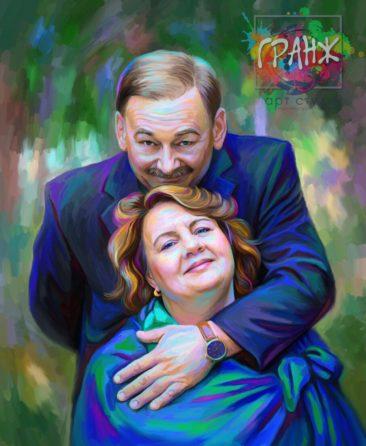 Портрет по фото на холсте в подарок Якутск