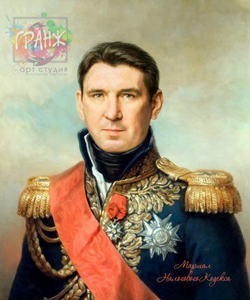Портрет по фото на холсте в подарок мужчине на 23 февраля Якутск