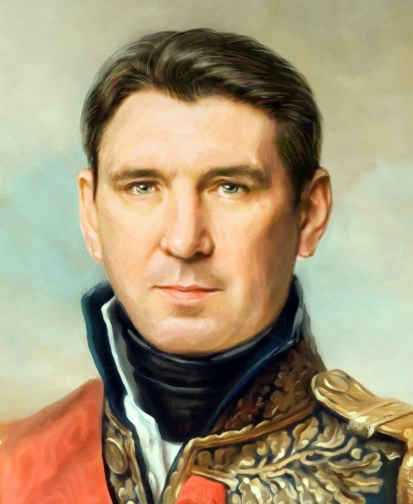 портрет по фото на холсте в подарок Косторма