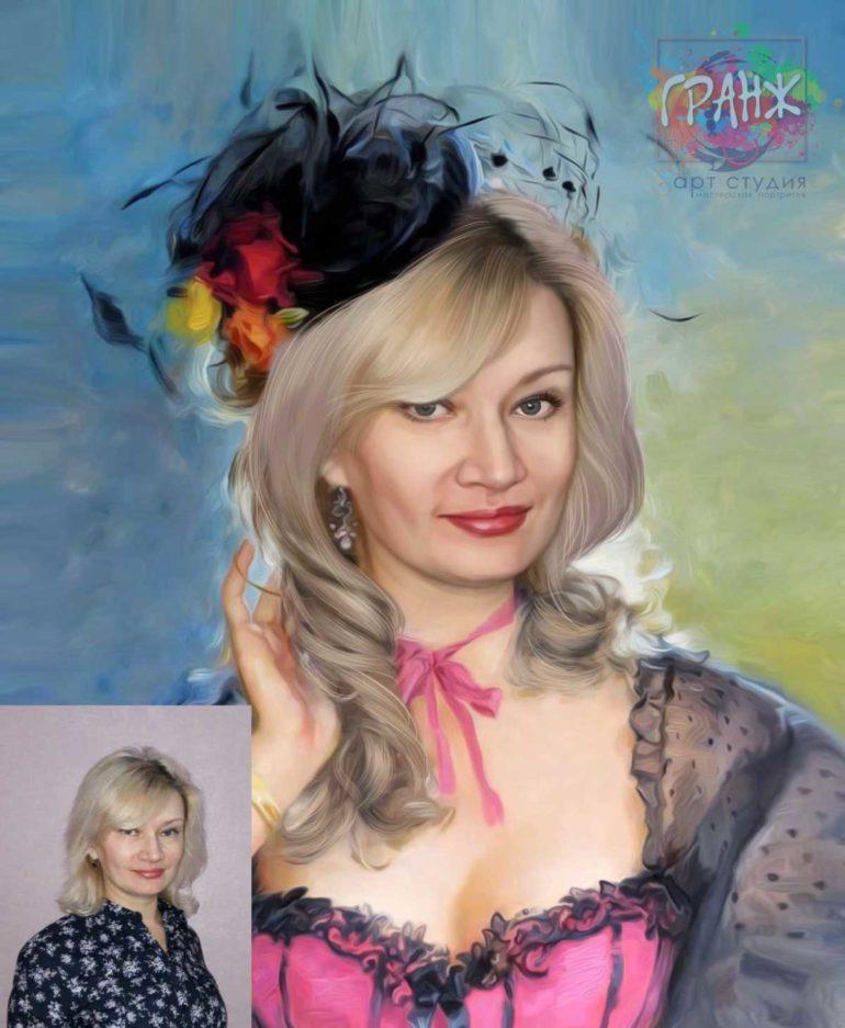Заказать арт портрет по фото на холсте в Якутске