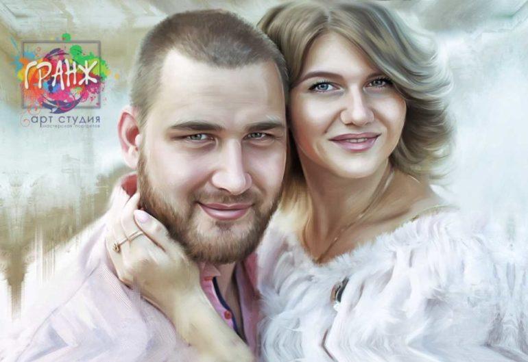 Где заказать портрет по фотографии на холсте в Якутске?