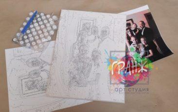 Картина по номерам по фото, портреты на холсте и дереве в Якутске