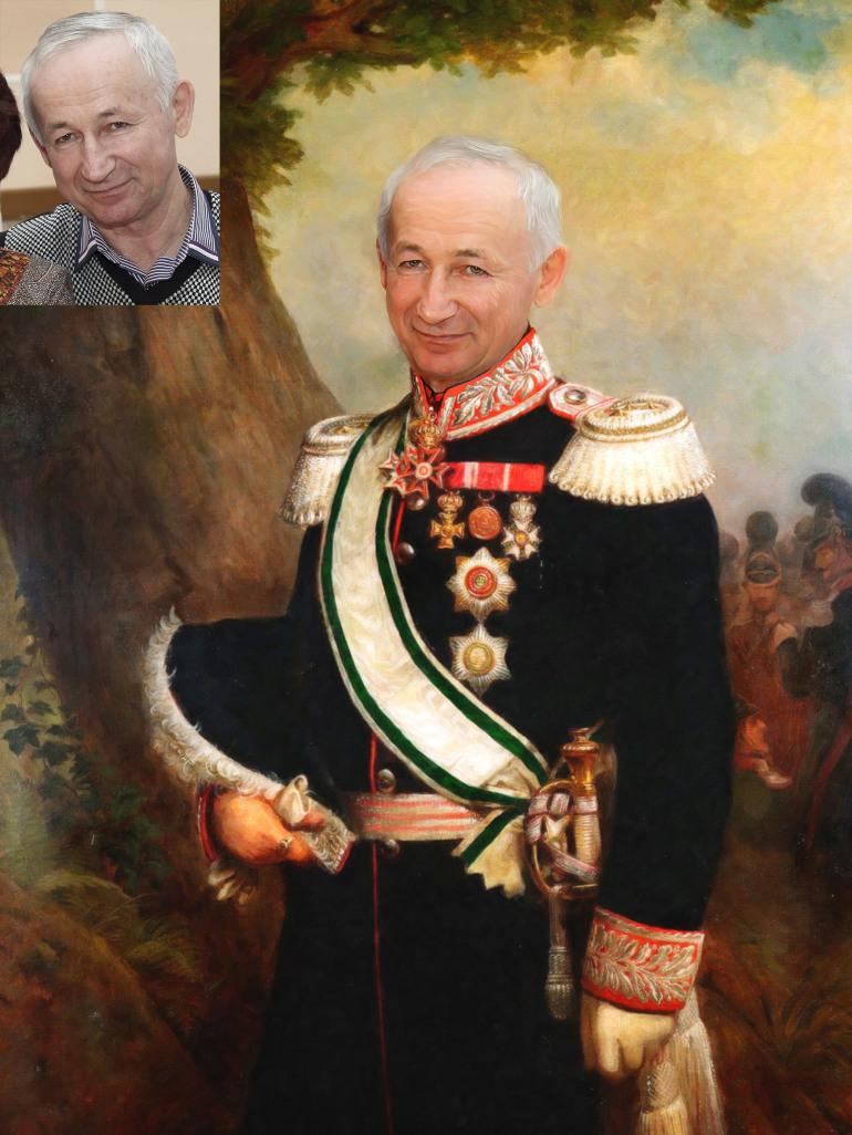 Где заказать исторический портрет по фото на холсте в Якутске?
